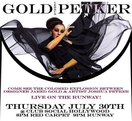 Gold Petker fashion collaboration