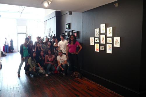 Akira with Academy of Art class